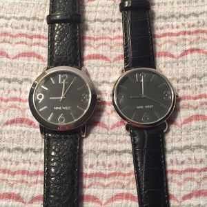 You choose! Nine West black leather watch